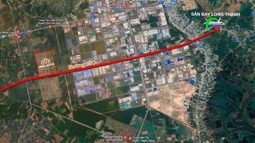 Mặt tiền đường 25C (100m), ngay TTHC Nhơn Trạch, Đồng Nai. Sổ đỏ TC 100%
