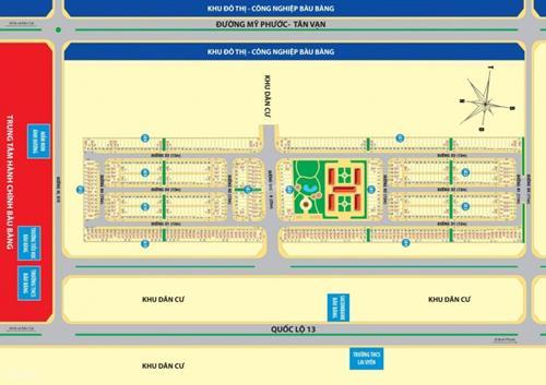 Khu đô thị vàng Golden future city mặt tiền 25m đi thẳng vào cổng KCN, 240tr/80m2, CK22%