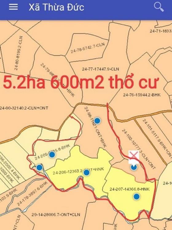 Bán đất tại  xã Thừa Đức , huyện Cẩm Mỹ