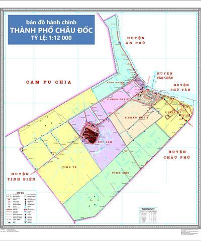Bản đồ quy hoạch TP Châu Đốc