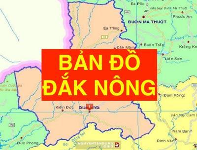 Bản đồ Đắk Nông khổ lớn phóng to chi tiết
