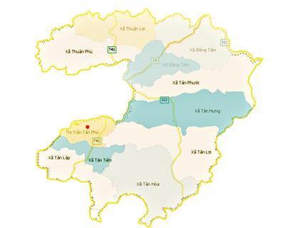 Bản đồ huyện Đồng Phú khổ lớn phóng to chi tiết