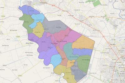 Bản đồ huyện Đức Hòa
