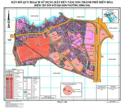 Bản đồ quy hoạch chi tiết Thành Phố Biên Hòa năm 2021