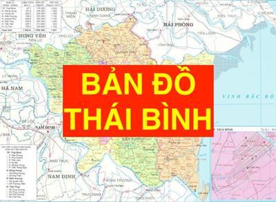Bản đồ Thái Bình khổ lớn phóng to chi tiết