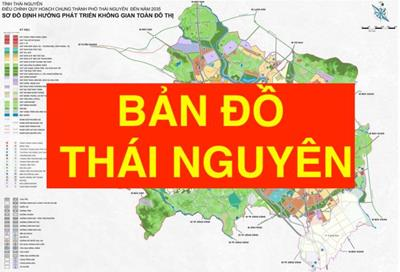 Bản đồ Thái Nguyên khổ lớn phóng to chi tiết