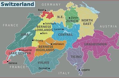 Bản đồ Thuỵ Sĩ