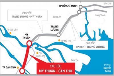 Cao tốc Mỹ Thuận - Cần Thơ chính thức khởi công tháng 11/2020