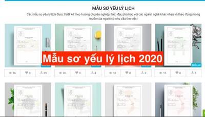 Tải Mẫu sơ yếu lý lịch ngắn gọn năm 2021 [Tải ngay]