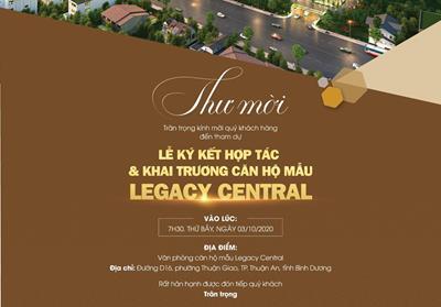 Ngày 03/10/2020 Lễ ký hợp tác & khai trương căn hộ mẫu Legacy Central