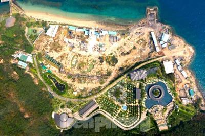 Phát hiện nhiều công trình xây dựng không phép tại Đảo Hòn Tằm