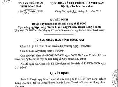 Thông tin quy hoạch khu công nghiệp Long Phước tại Long Thành
