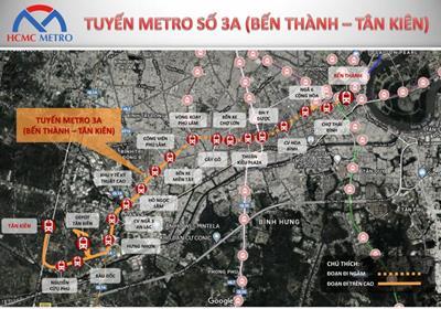 Tuyến metro số 3A: Bến Thành - Tân Kiên khi nào khởi công?