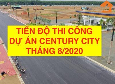 Video tiến độ hạ tầng dự án Century City ngày 16/08/2020