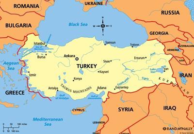 Bản đồ Thổ Nhĩ Kỳ