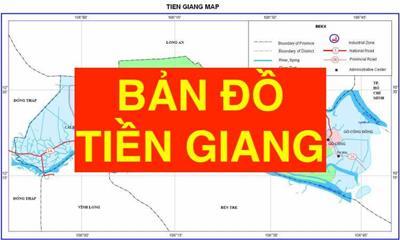 Bản đồ Tiền Giang khổ lớn phóng to chi tiết
