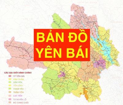 Bản đồ Yên Bái khổ lớn phóng to chi tiết