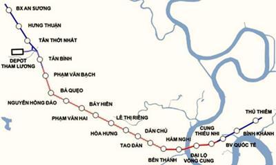 Tuyến Metro số 2 đoạn Tham Lương - Củ Chi
