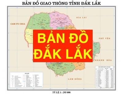Bản đồ Đắk Lắk khổ lớn phóng to chi tiết