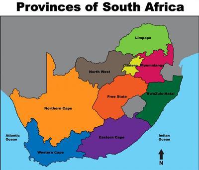 Bản đồ Nam Phi