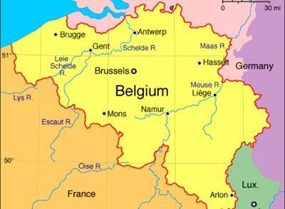 Bản đồ nước Bỉ
