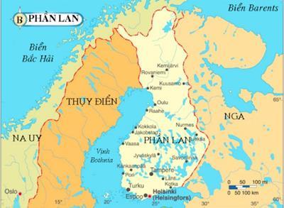 Bản đồ du lịch phần Lan