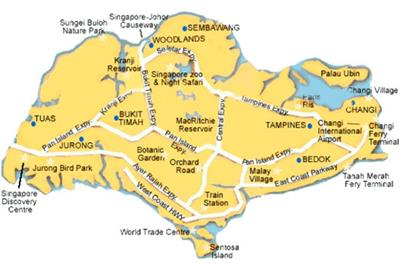 Bản đồ du lịch Singapore