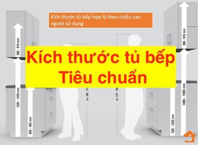Kích thước tủ bếp tiêu chuẩn của người Việt hiện nay