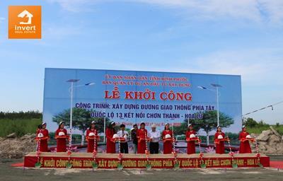 Lễ khởi dự án đường phía Tây Quốc Lộ 13 kết nối Chơn Thành - Hoa Lư