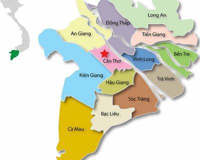 """Bản đồ Miền Tây du lịch 13 tỉnh Miền Tây """"dễ dàng"""""""