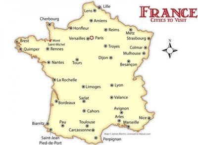 Bản đồ du lịch Nước Pháp