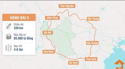 Toàn cảnh tuyến đường Vành Đai 5 tại Hà Nội
