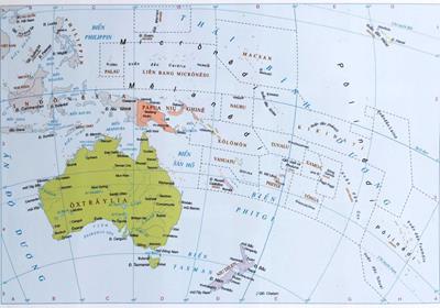 Bản đồ du lịch Châu Đại Dương năm 2020
