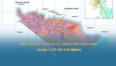 Bản đồ quy hoạch sử dụng đất Quận 1 năm 2021