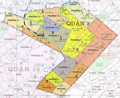 Bản đồ Hành chính Quận 3 TPHCM năm 2021
