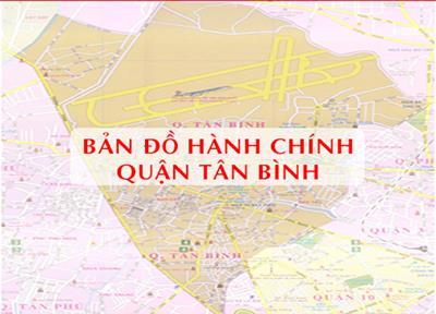 Bản đồ Hành chính Quận Tân Bình tại TPHCM khổ lớn năm 2021