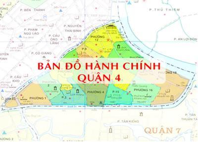 Bản đồ Hành chính Quận 4 TPHCM năm 2021