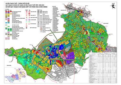 Thông tin quy hoạch huyện Thạch Thất tại Hà Nội đến năm 2030
