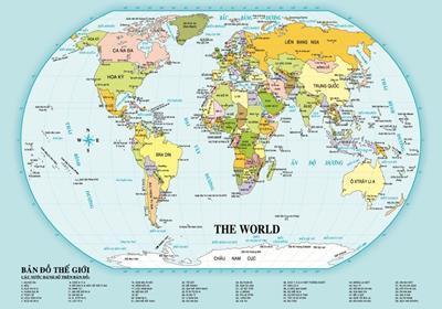 Bản đồ du lịch Châu Mỹ năm 2020