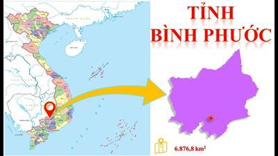 Bản đồ hành chính tỉnh Bình Phước năm 2021
