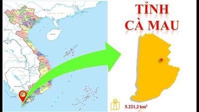 Bản đồ hành chính tỉnh Cà Mau khổ lớn năm 2021