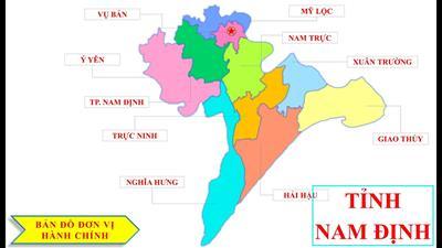 Bản đồ hành chính tỉnh Nam Định khổ lớn năm 2021