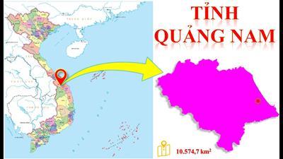 Bản đồ hành chính tỉnh Quảng Nam năm 2021
