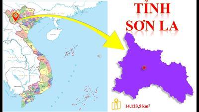 Bản đồ hành chính tỉnh Sơn La khổ lớn năm 2021