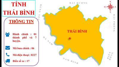 Bản đồ hành chính tỉnh Thái Bình khổ lớn năm 2021