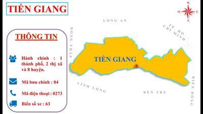 Bản đồ hành chính tỉnh Tiền Giang khổ lớn năm 2021