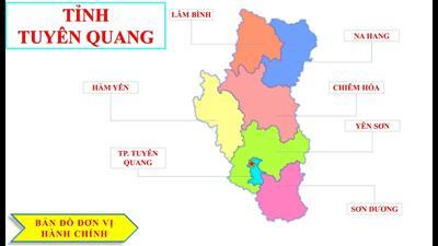 Bản đồ hành chính tỉnh Tuyên Quang khổ lớn năm 2021