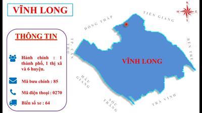Bản đồ hành chính tỉnh Vĩnh Long khổ lớn năm 2021