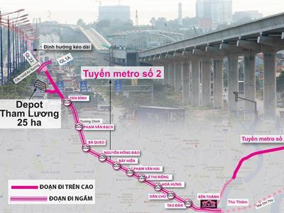 Tuyến Metro số 2 đoạn Bến Thành - Thủ Thiêm khi nào khởi công?