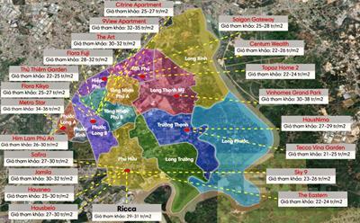 Thông tin quy hoạch giao thông và giá đất tại Quận 9